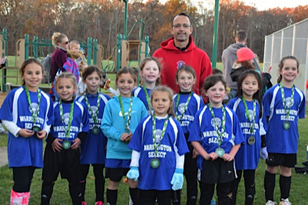 Under 8 Girls Blue Team - Finalist in Montgomery Select Tournament